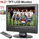 10.2 inch TFT LCD 16:9 Screen VGA/AV/ input Monitor with Analog TV 1CH Video input 2Ch Audio input