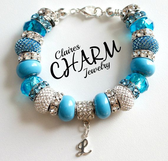 Pandora Inspired Charm Bracelet Add A Bead by clairescharmjewelry