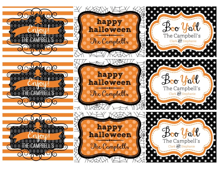 halloween printable gifts tags personalized 800 via etsy - Halloween Gift Tag