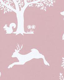 Tapet Enchanted Wood Peony/White från Hibou Home