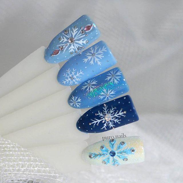 Which one do you like the most? :) ❄❄❄  Painted with mix of Makear products from @makear.pl   #nailart #nailsoftheday #nails #nail #hybrydnails #hybrydymanicure #kochampaznokcie #instanail #nails2inspire #paznokciehybrydowe  #paznokcie  #nailartist_manicure #nails #nailswag #gelnails #winternails #nailru #nailstagram  #nailitdaily #nailpro #snowflake #instagramnails  #beautifulnails #trna #snowflakes #makear #sniezynki #zima #zimowepaznokcie