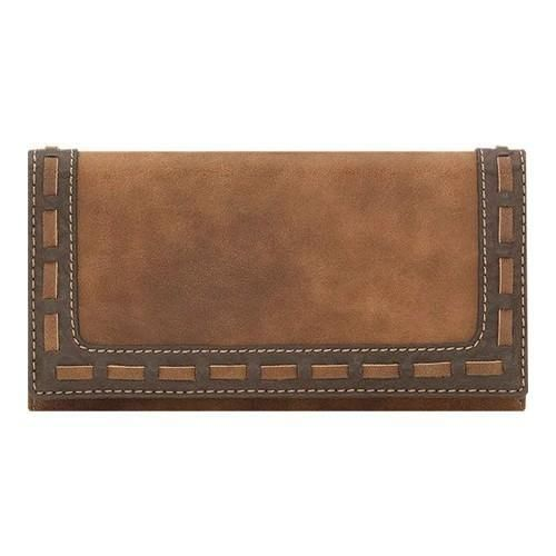 Women's Bandana Guns and Roses Flap Wallet B35 Golden Tan/