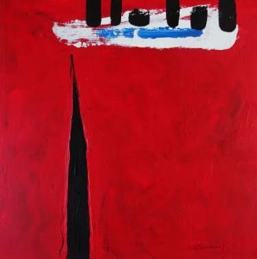 """Saatchi Art Artist Vera Komnig; Painting, """"No. 407"""" #art  Acrylic on canvas 80x 80 cm  http://www.saatchiart.com/art/Painting-No-407/695057/2729804/view#  www.verakomnig.com"""