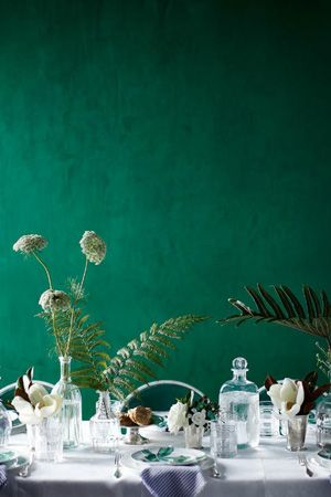 "What a great feature wall colour! Especially love this for behind the bridal table OR alternatively could be used to compliment the buffet setting of a ""help yourself"" wedding. I also like this colour for the photo booth."