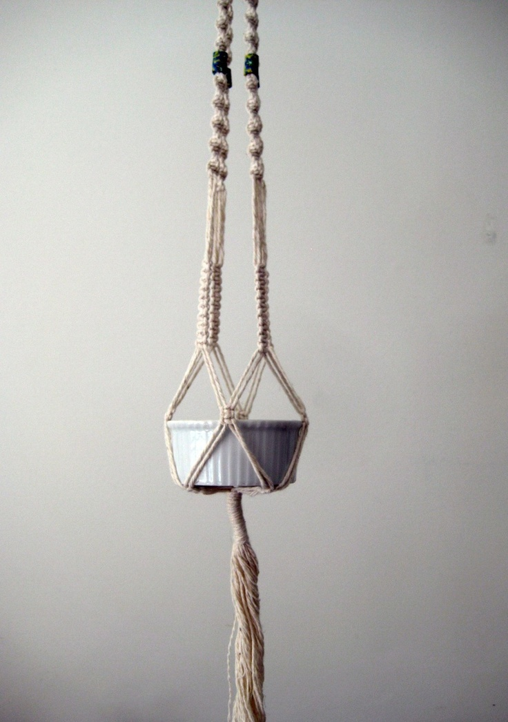 Macrame Plant Hanger, Small Size, Perfect for Herbs or ...