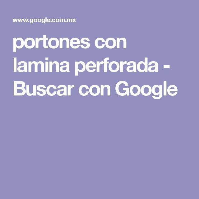 portones con lamina perforada - Buscar con Google