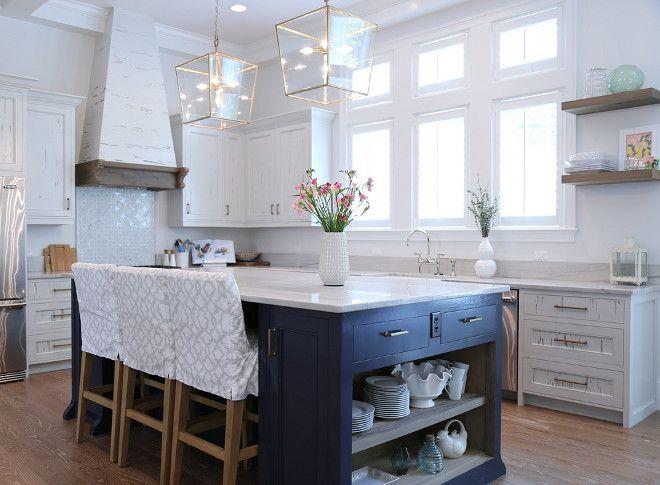 Kitchens With White Macaubus Quartzite And Dark Cabinets