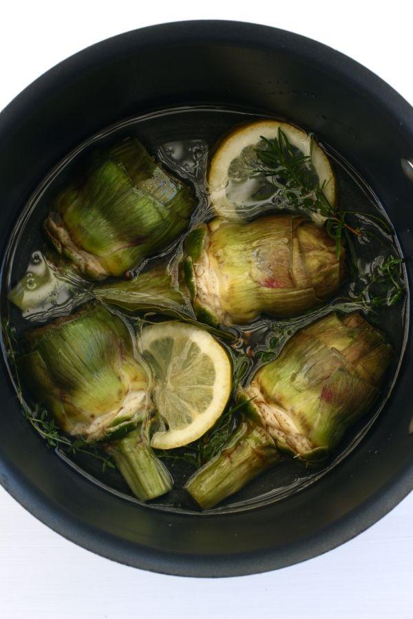 marinated-globe-artichokes. Easy to follow recipe http://foodiesagenda.com/marinated-artichokes/