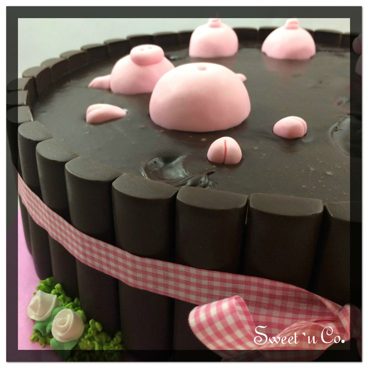 :: Chanchitos en el barro :: #cake #party #zoomcake #pigscake #sweetandco