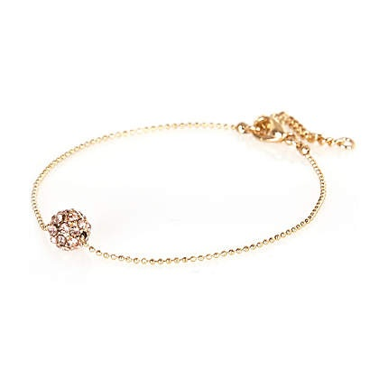 light pink encrusted ball bracelet - bracelets - jewellery - women - River Island $3