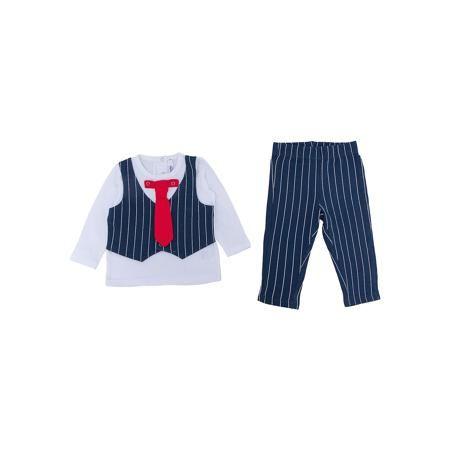 PlayToday Комплект: футболка с длинным рукавом и брюки для мальчика PlayToday  — 1469р.  Характеристики:  • Вид одежды: футболка с длинным рукавом и брюки • Предназначение: праздничная одежда, повседневная одежда • Пол: для мальчика • Сезон: круглый год • Материал: хлопок – 95%, эластан – 5% • Цвет: белый, черный, красный • Рукав: длинный • Длина штанишек: длинные • Вырез горловины: круглый • Особенности ухода: ручная стирка без применения отбеливающих средств, глажение при низкой…
