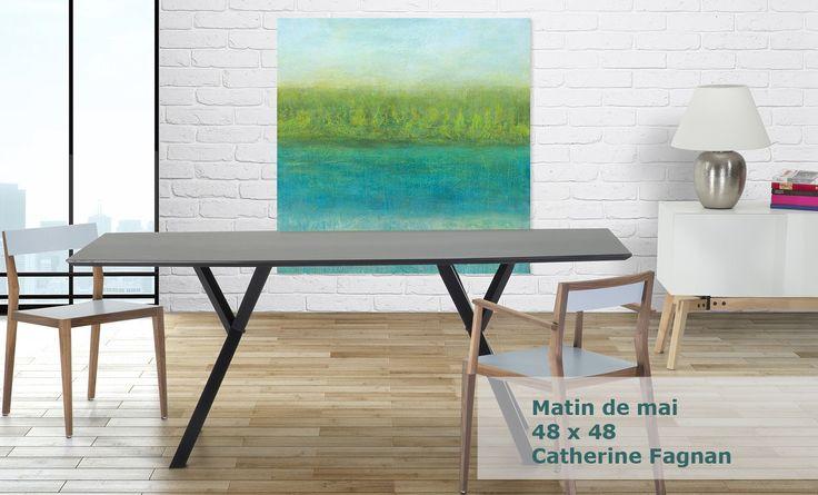"""Oeuvre """"Matin de mai"""" Artiste: Catherine Fagnan www.catherinefagnan.com"""