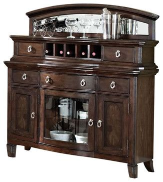 Acme Keenan Server in Dark Walnut transitional-buffets-and-sideboards