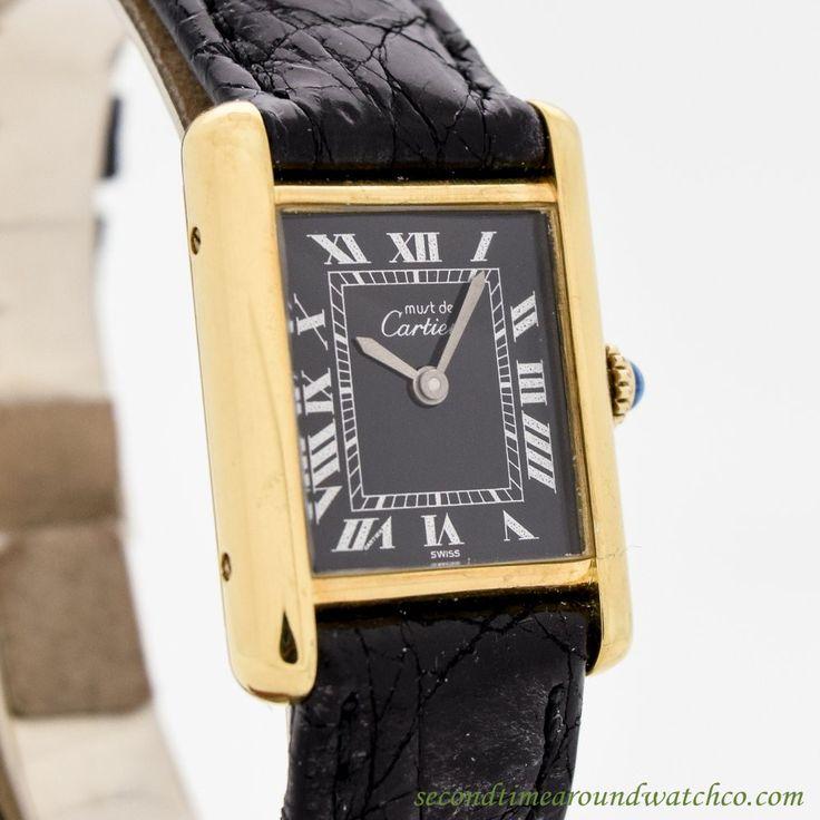 1990 Cartier Tank Must De Ladies' Size 18k Yellow Gold Plated Watch
