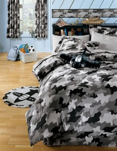Best Teen Boys Comforters Images On Pinterest Bedding Sets - Black and grey camouflage comforter set