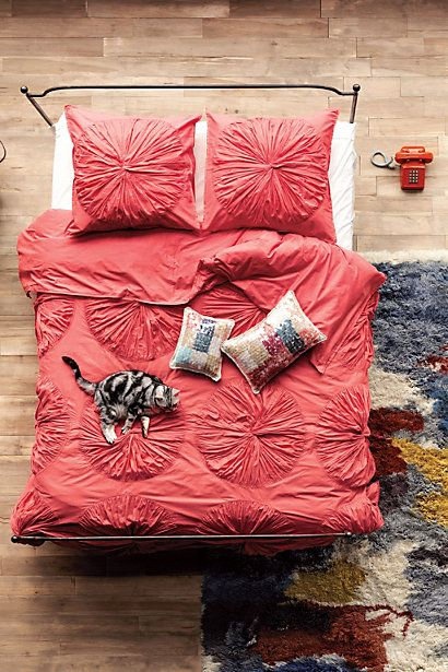 Lanna Duvet Cover - Anthropologie.comAnthropology, Beds Spreads, Duvet Covers, Interiors Design, Design Bedrooms, Canopies Beds, Coral Beds, Bedrooms Interiors, Beds Sets