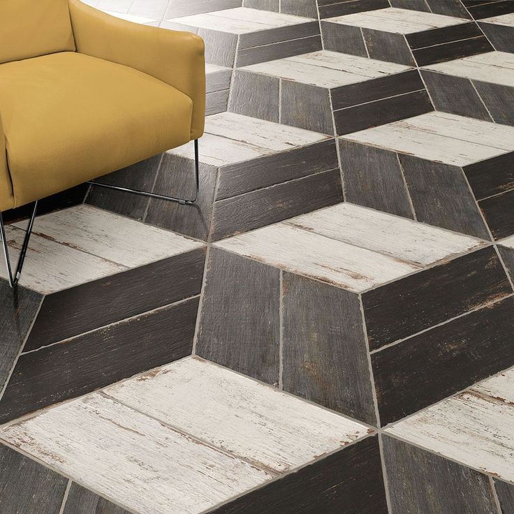 SomerTile 7.125x16.375-inch Lambris Naveta Negre Floor and Wall Tile