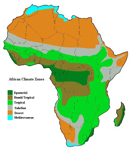 Africa Climate Map | Jackenjuul