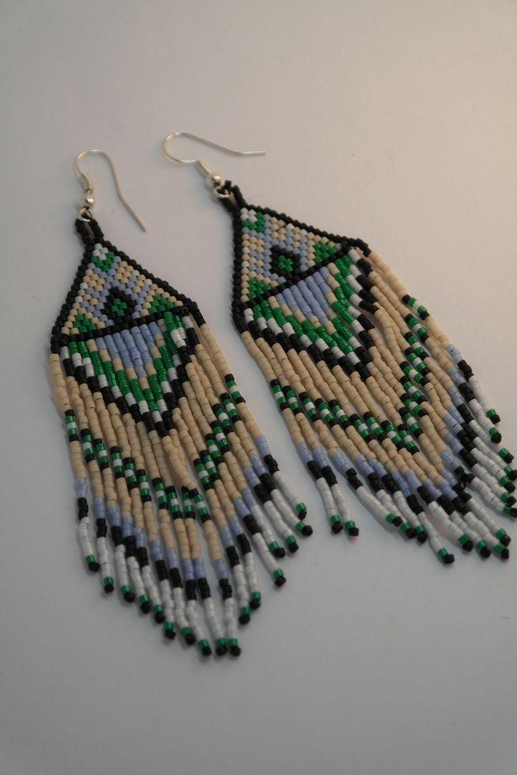 boucles d 39 oreilles ethniques en perles de rocailles miyuki d licas tisse boucle d 39 oreille and d. Black Bedroom Furniture Sets. Home Design Ideas