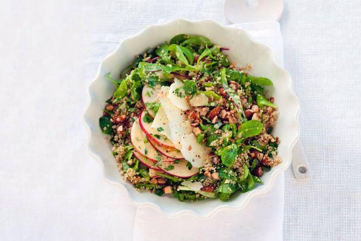 Kijk wat een lekker recept op de test-site van Allerhande! Winterse salade met quinoa en manchego