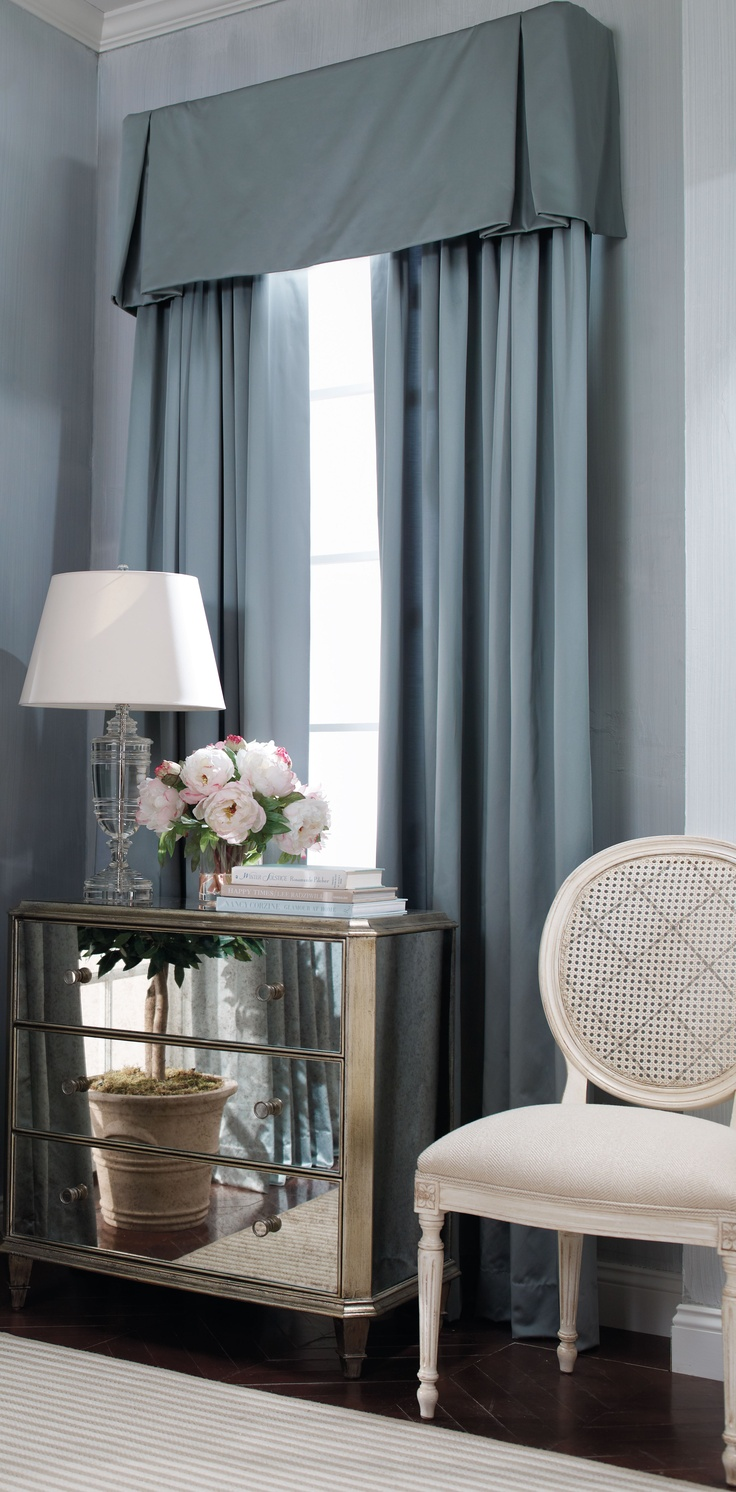 Ethan allen window treatments - Add A Clean Tailored Valence To Windows To Frame Accent Furnishings Or Special Seating Areas Complete The Look With Similar Table And Lamp Available At