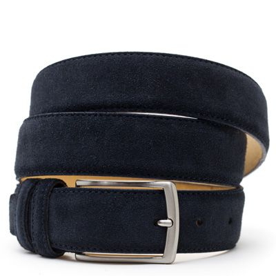 Suede riem: Deep Bleu by ColorMeSocks™