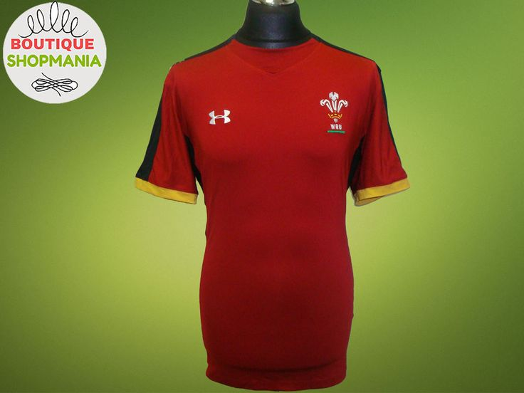 UNDER ARMOUR WALES WRU Training 2015 Rugby Union Shirt