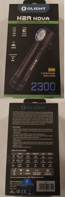 Flashlights 16037: Olight H2r Nova 2300 Lumen Cool Headlamp Headlight Kit W Battery And Charger -> BUY IT NOW ONLY: $78.95 on eBay!