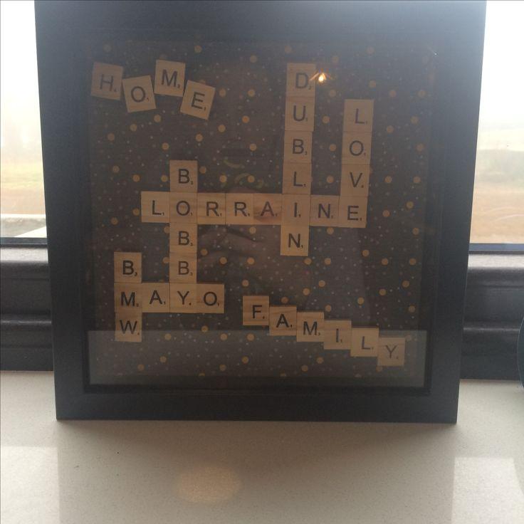 My own creation. Scrabble art