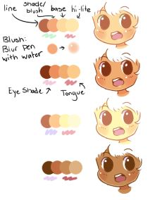 Some Skin Palettes! (use if you want) by ribbon-adopts on deviantART