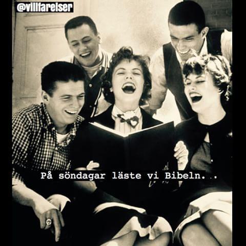 #bibeln #skratt #högläsning #läsa #villfarelser #humor #ironi #kul #skoj #asgarv #svenskhumor #text #foto #fotografi