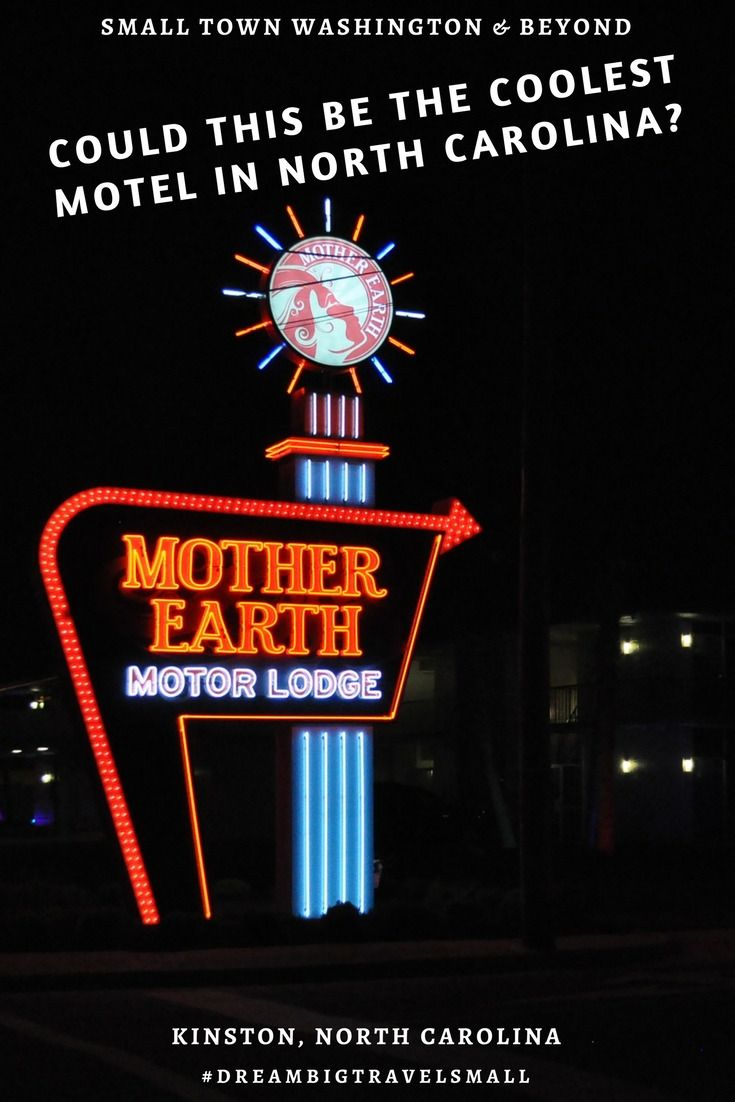 Want to stay at a retrol motel that makes you feel like you've wanted into an Austin Powers movie? Put the Mother Earth Motor Lodge in Kinston, NC on your list!