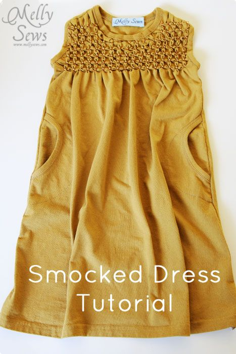 Smocked Dress tutorial by Melly Sews  Smocking Tutorial May 2, 2012 by Melissa Mora 41 Comments