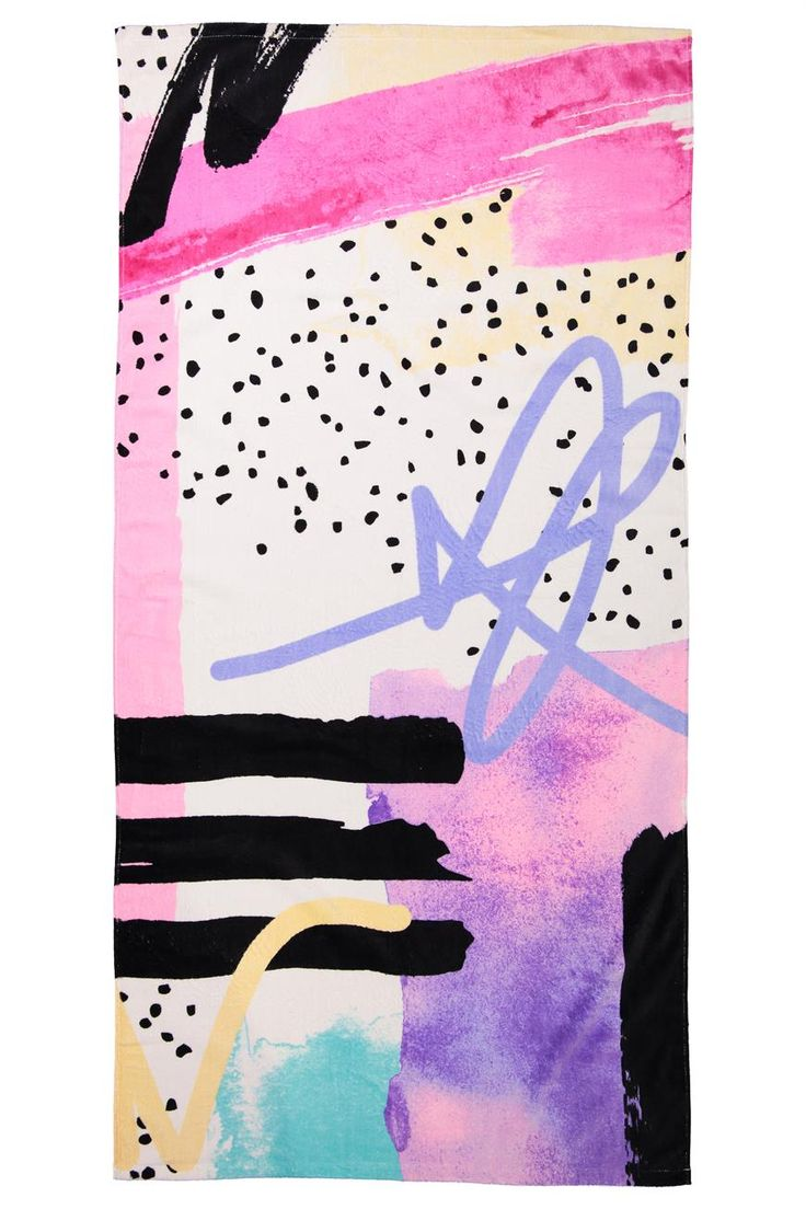 """Soft and Cozy single Sized Beach Towel. <br> Perfect to bring with you to the beach or a festival! Colorful prints designed in-house. <br> 100% cotton excluding embellishments. <br> Dimensions: 75cm x 150 cm/29.52"""" x 59.05"""". <br/>"""