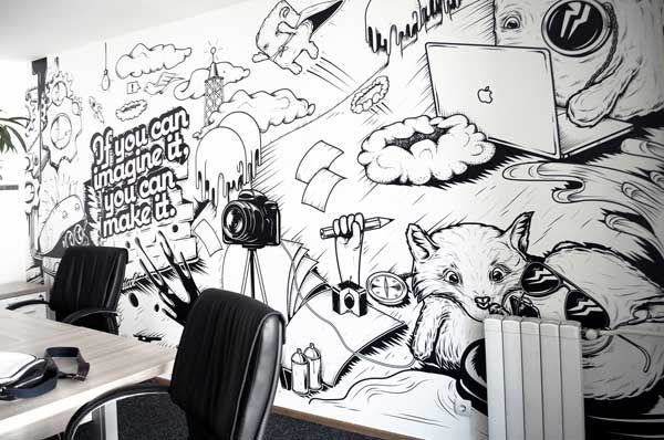 creative office decoration | Fancy Wall Office Decorating Ideas Images ...