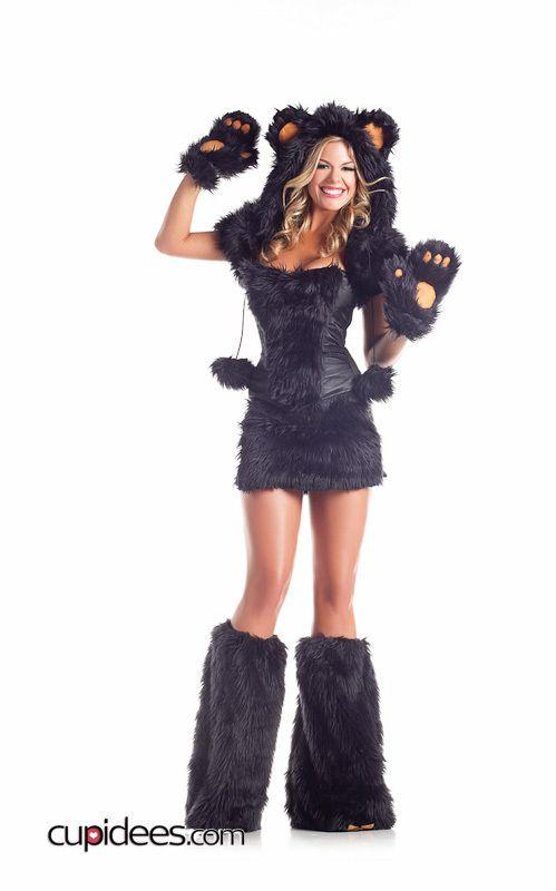 Sexy Furry Bear Costume - Cupidees.com