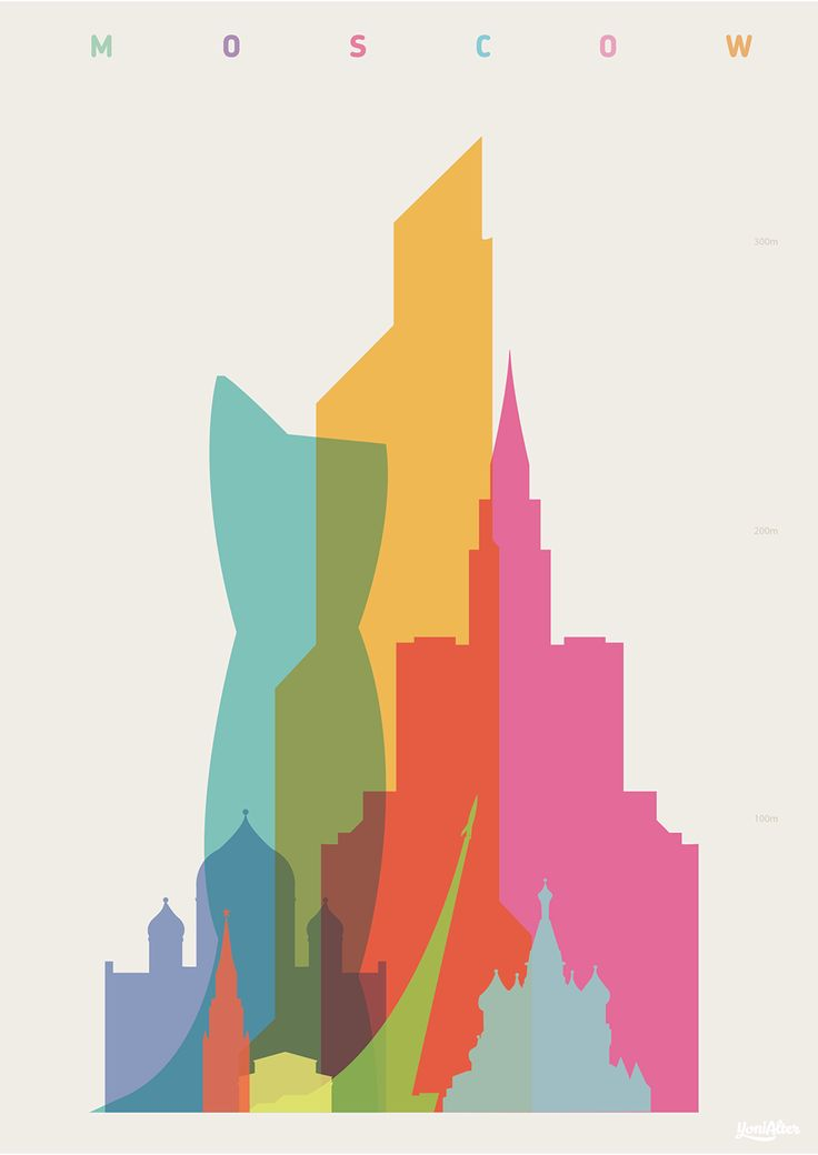 """Shapes of Moscow"" Art Print by YONI ALTER 