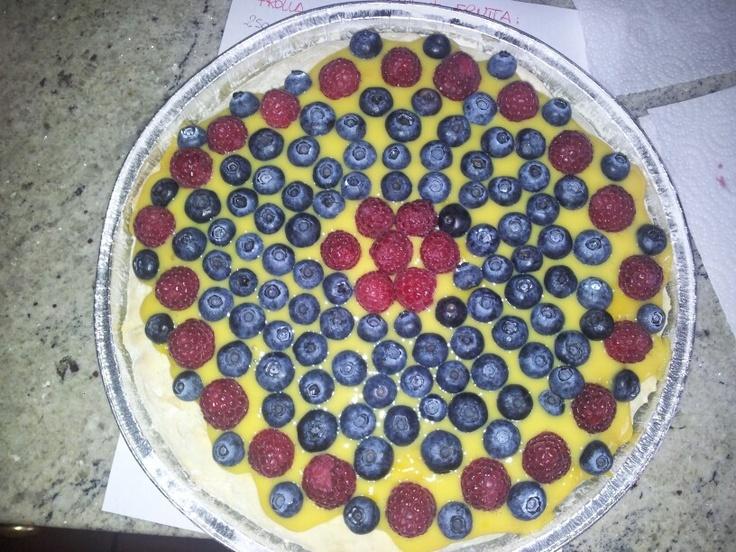 Torta crema e frutta...