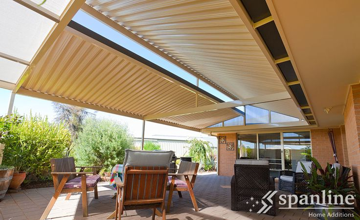 Spanline Skillion roofing profile maximises sunlight to create an open, light filled space.