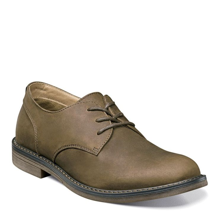 Nunn Bush Men's Linwood Medium/Wide Plain Toe Oxford Shoes (Brown Leather)