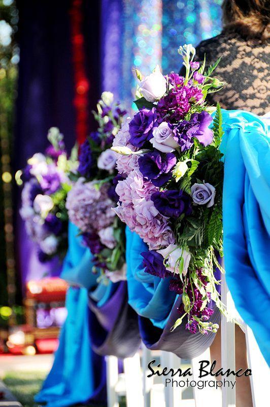 Teal Purple Indian Wedding Decor Sierra Blanco Photography Via