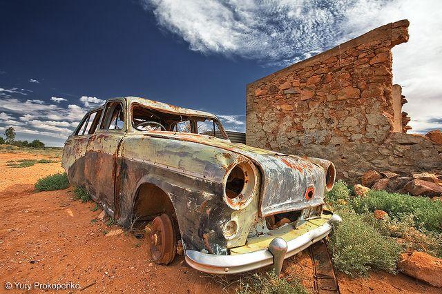 Deserted Car by -yury-, via Flickr