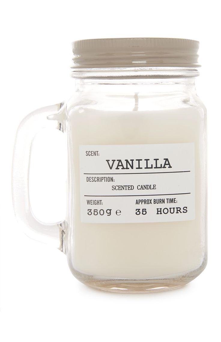 Primark vanilla mason jar candle christmas wishlist - Velas led primark ...