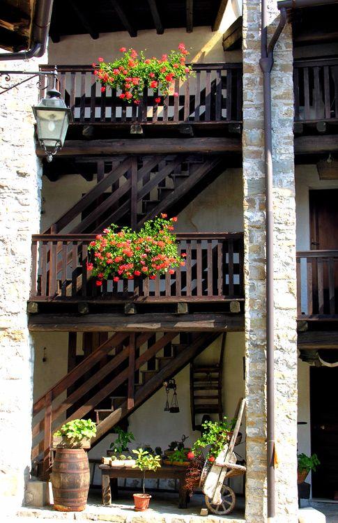 A house in Poffabbro village, Pordenone, Friuli-Venezia Giulia_ Italy