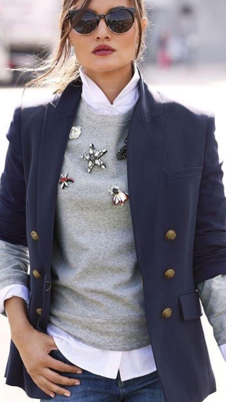 Blazer met knopen #fashion #outfit #ideas #outfitideas #mode #moda #ideeën #out…