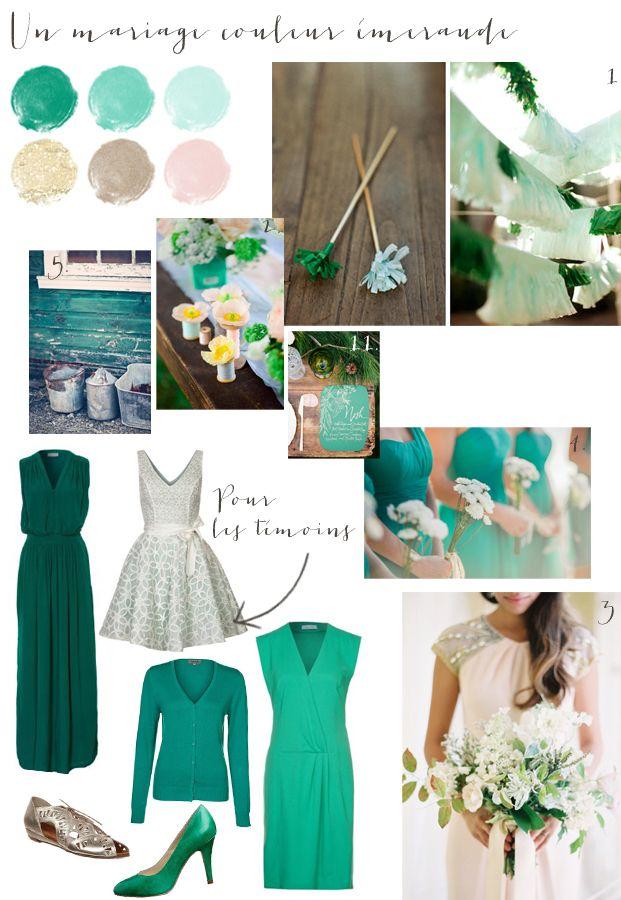 carnet d inspiration - mariage en vert emeraude - La mariee aux pieds nus