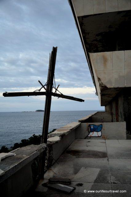 Kupari abandoned military resort on the Croatian seaside near Dubrovnik.