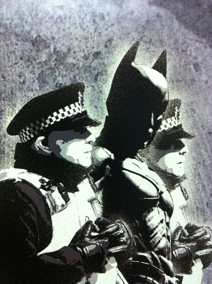 Banksy - Uniform and Batman.  ∂٨٥٦. . .
