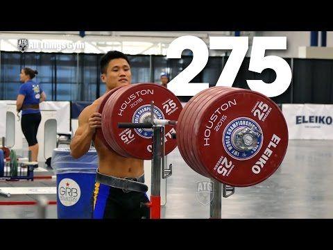Lu Xiaojun & Tian Tao Front & Back Squatting 2015 World Weightlifting Championships - YouTube