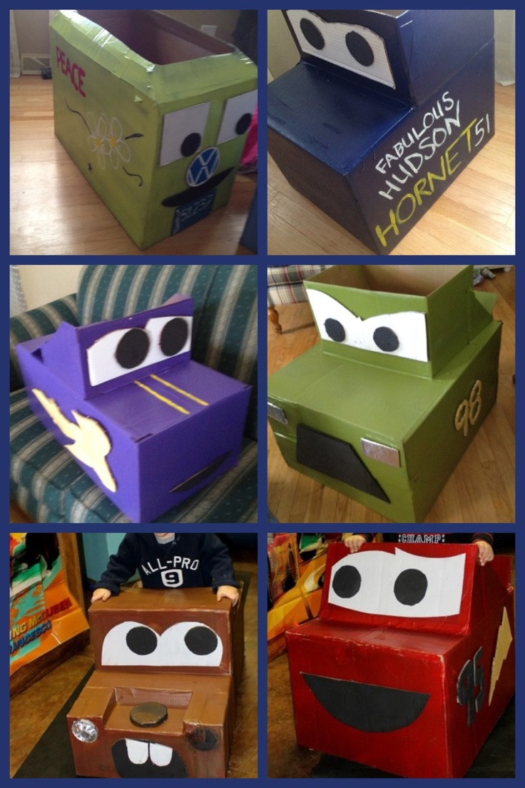10 Ideas About Cardboard Box Cars On Pinterest: Cardboard Cars